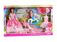 Defa Кукла 6074 с дочкой,  набором одежды, коляской и аксессуарами YNA/5-01