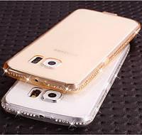 Чехол для Samsung A7 A710 силиконовый ободок со стразами, фото 1