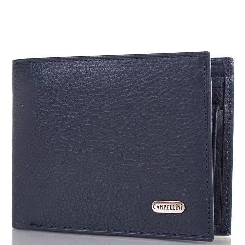 Мужской синий кожаный кошелек CANPELLINI (КАНПЕЛЛИНИ) SHI1108-4FL