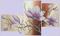 Схема для вышивки бисером Цветок (триптих) КМРТ 1002