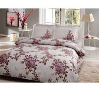 TAC евро комплект  постельного белья saten Delux Lorca lila