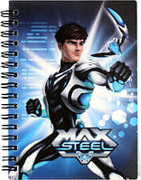 Блокнот Max Steel (Макс Стил)  А6, 80 л, спираль  MX14-226K