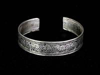 Браслет женский узоры тибетское серебро