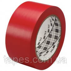 Красная Разметочная лента 3М 7641 для разметки пола (50мм х 33м х 0,13мм)