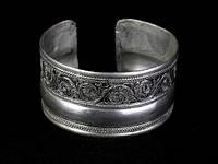 Браслет широкий стильный тибетское серебро