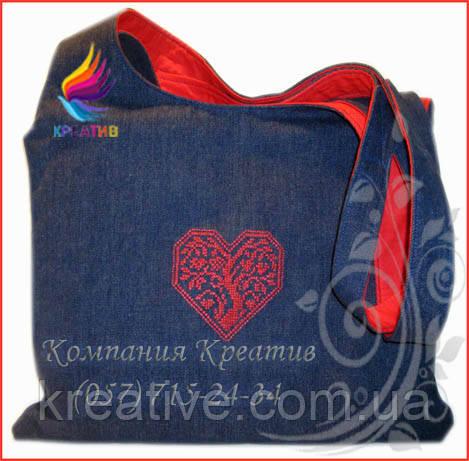 Джинсовые сумки с вышивкой/логотипом (под заказ от 50 шт) с НДС