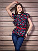 Шифоновая женская блуза с интересным принтом губки, фото 2
