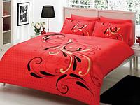 TAC евро комплект  постельного белья saten Delux Tango red