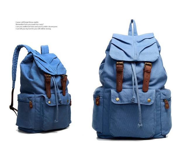 Городской рюкзак Sccotton | светло-синий. Вид сбоку.