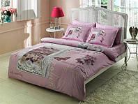 TAC евро комплект  постельного белья saten Delux Pavia lila