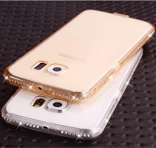 Чехол для Samsung A5 A510 силиконовый ободок со стразами