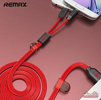 Кабель Remax Gemini Combo 2 в 1: подходит для устройств Apple и Android