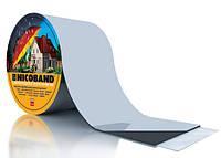NICOBAND Самоклеюча герметизуюча бітумна Срібляста стрічка 10м х 10см /ТехноНІКОЛЬ
