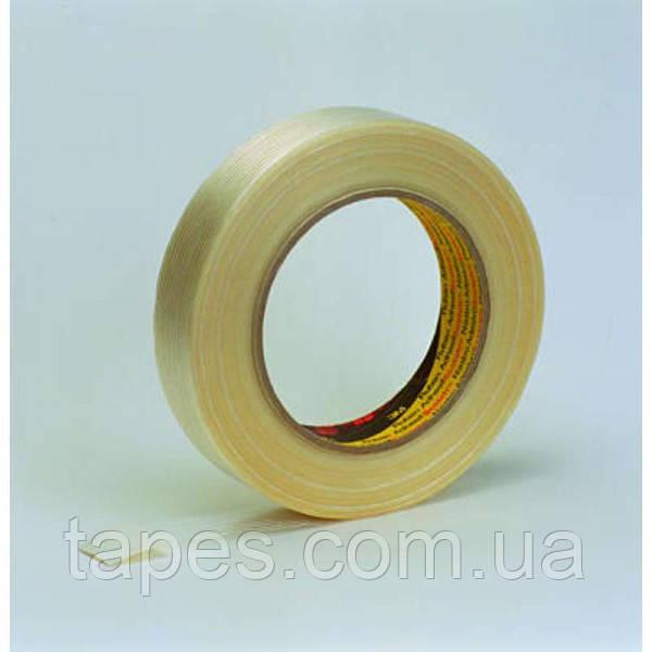 Армированный нитями упаковочный скотч 3М 8956 (25мм х 50м х 0,13мм)