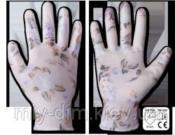 Перчатки Bradas NITROX Flowers сірий/квітка нітрил р.8 / RWNF8 Bradas