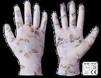 Рукавички Bradas NITROX Flowers сірий/квітка нітрил р. 8 / RWNF8 Bradas