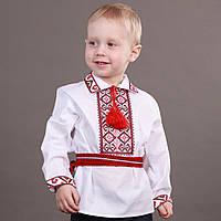 Детские вышиванки +для мальчика с красной вышивкой