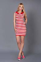 Платье в полоску  женское трикотажное Морячка размеры 42, 44, 46, 48