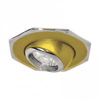 Светильник точечный FERON 305 R-50 золото-хром / D/L E14 GD-CM
