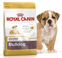 Сухой корм для щенков английских бульдогов до 12 месяцев Royal Canin Bulldog Junior 30 Основное питание, От 2-х месяцев, Супер-премиум, Франция, 12 кг, Сухие корма