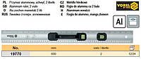 Линейка лінійка столяра 2 вічка алюміній 600мм VOREL-19770