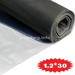 Москитная сетка из капрона 1.2м*30пог.м (50г/м2) цвет серый