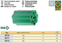 Бордюр полоса бар'єрна для рослин зелена b= 100 мм l= 9 м FLO-88700