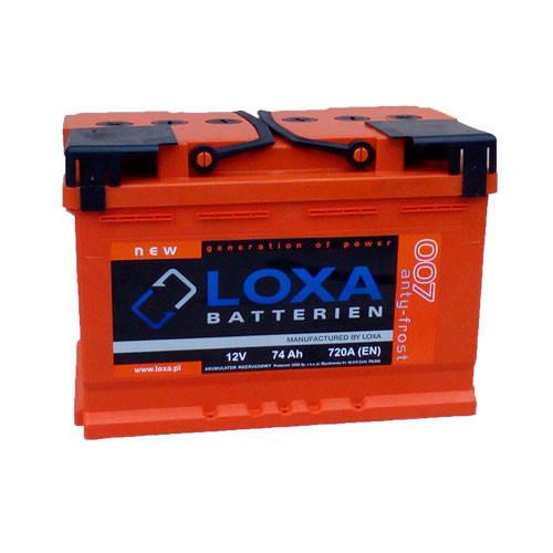 Аккумулятор Loxa 74Ah EN 720A R+(0) 276х175х190, фото 2