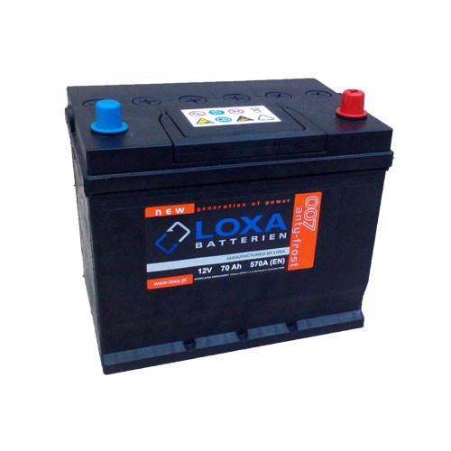 Аккумулятор Loxa 70Ah EN 570A Asia R+(0) 260х175х225