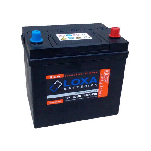 Аккумулятор Loxa 60Ah EN 500A Asia R+(0) 230х175х225