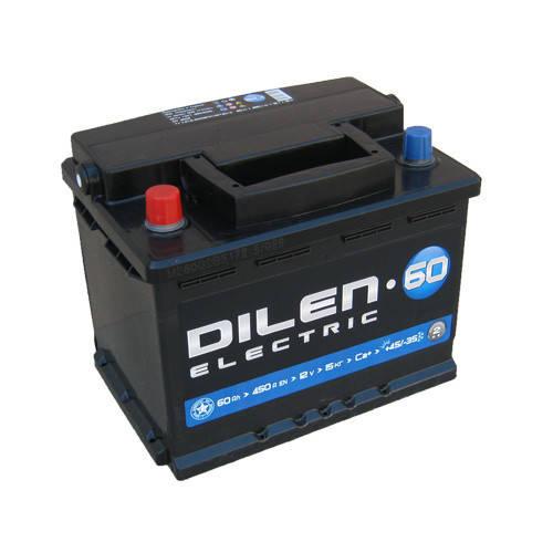 Аккумулятор Dilen 6СТ-60Ah/450A L+(1) 242х175х190, фото 2