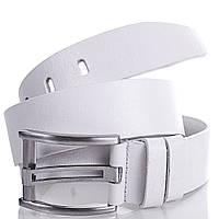 Белый мужской кожаный ремень MYKHAIL IKHTYAR (МИХАИЛ ИХТЯР) MI2275 (ширина 4,5 см)