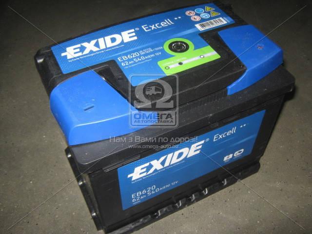 Аккумулятор Exide EXCELL 62Ah R+ EN540, фото 2