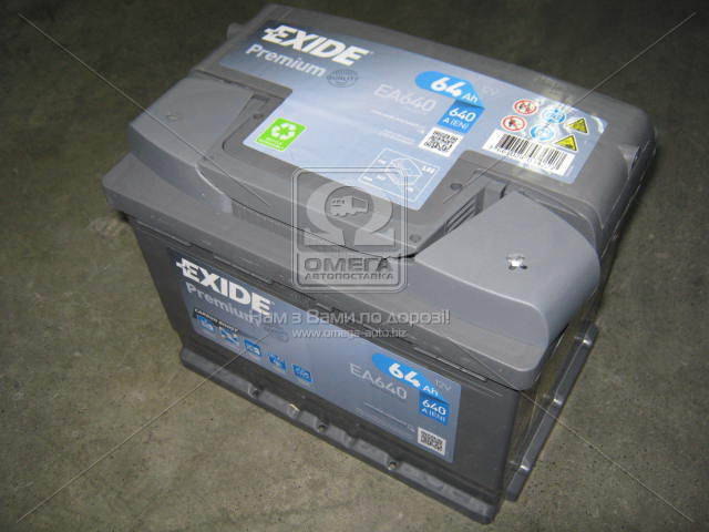 Аккумулятор Exide PREMIUM 64Ah R+ EN640, фото 2