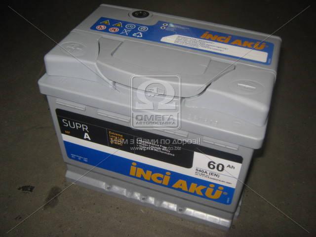 Аккумулятор INCI AKU SuprA 60Ah L+ EN 540, фото 2
