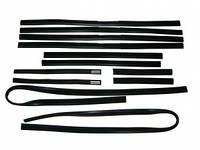 Уплотнитель стекла ВАЗ 2105 опускн. (фетры) (компл.12шт) № 52Р (БРТ)  2105