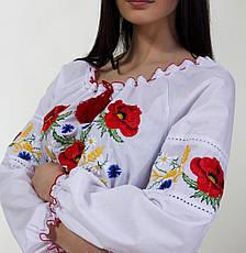 Вышиванка  с маками есть большие до 56 размеры, фото 2