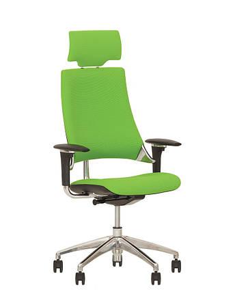 Кресло офисное Hip Hop R HR пластик черный крестовина AL33, ткань CN-200 (Новый Стиль ТМ), фото 2