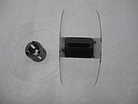 Катушка для мерных материалов : тесьма, ленты, шнуры.  (диаметр 121 мм диаметр катушки 35 мм ширина 48 мм)