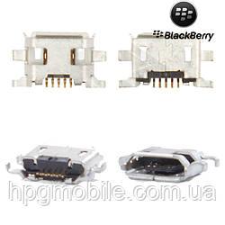 Коннектор зарядки для Blackberry 9900, 5 pin, micro-USB тип-B, оригинал