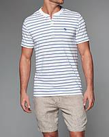 Белая футболка в полоску Abercrombie&Fitch
