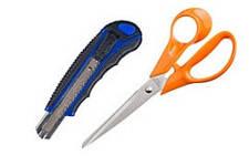 Ножиці, ножі канцелярські, леза