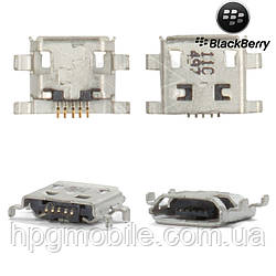 Коннектор зарядки для Blackberry 8900, 9500, 9530, 9630, Z10, оригинал