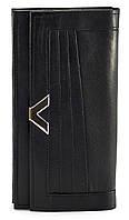 Кожаный, качественный и недорогой женский кошелек SWAN art. Б/Н черный