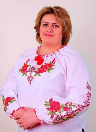 Женская вышиванка розы большой размер, фото 2