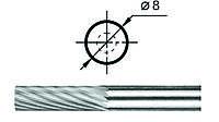 Борфрезы Цилиндрические (А1) д. 8 мм.