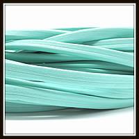 Шнур кожаный 10*5 мм, цвет Тиффани  (20 см)
