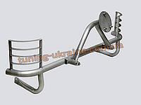 Защита заднего бампера  (крашенная) с креплением под запасное колесо и защитой фар D60 на Lada Niva 2121-21214