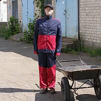 Костюм ІТР для захисту від виробничих забруднень, синьо-червоний