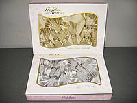 Скатерть Golden Laurel Lurex 160x220 + 8 салфеток c кольцами